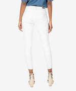 Donna High Rise Fab Ab Ankle Skinny (Optic White) Hover Image