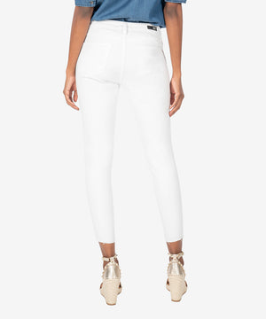 Donna High Rise Fab Ab Ankle Skinny (Optic White)