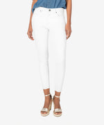 Donna High Rise Fab Ab Ankle Skinny (Optic White) Main Image