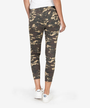 Connie Slim Fit Crop (Olive)-Kut from the Kloth