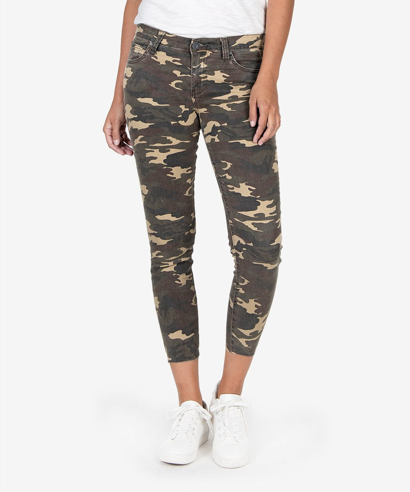 Connie Slim Fit Crop (Olive)