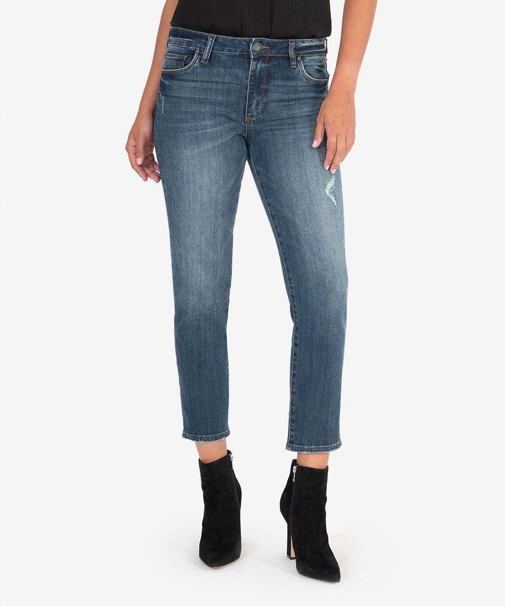 Reese High Rise Ankle Straight (Enterprise Wash)