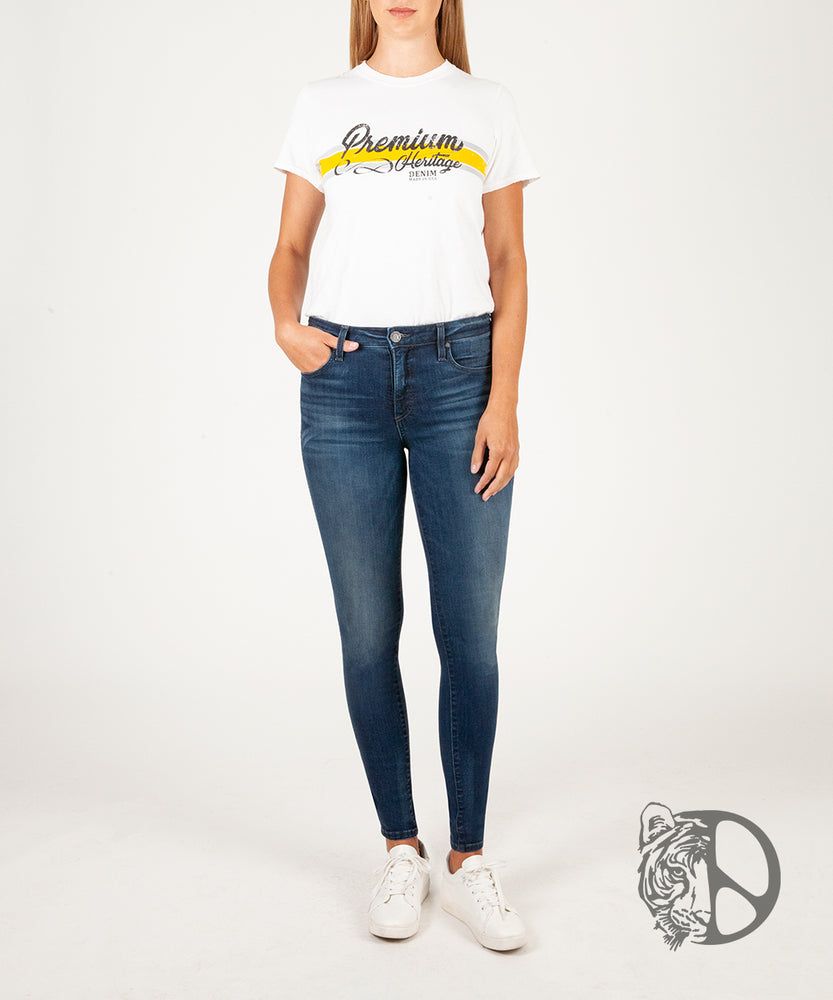 Premium Heritage Mia Fab Ab Skinny Inspired by Peace for Animals with Katie Cleary (Dark Junipero Wash)