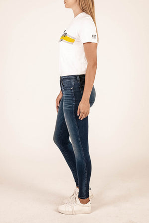 Premium Heritage Mia Fab Ab Skinny Inspired by Peace for Animals with Katie Cleary (Dark Junipero Wash)--Kut from the Kloth