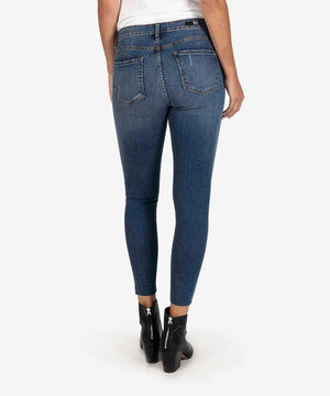 Donna High Rise Ankle Skinny (Touched Wash)-New-Kut from the Kloth