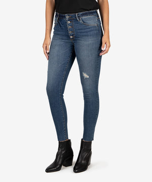 Donna High Rise Ankle Skinny (Permit Wash)-Kut from the Kloth