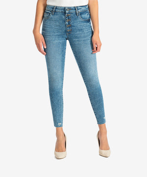 Donna High Rise Ankle Skinny (Feeling Wash)-New-Kut from the Kloth