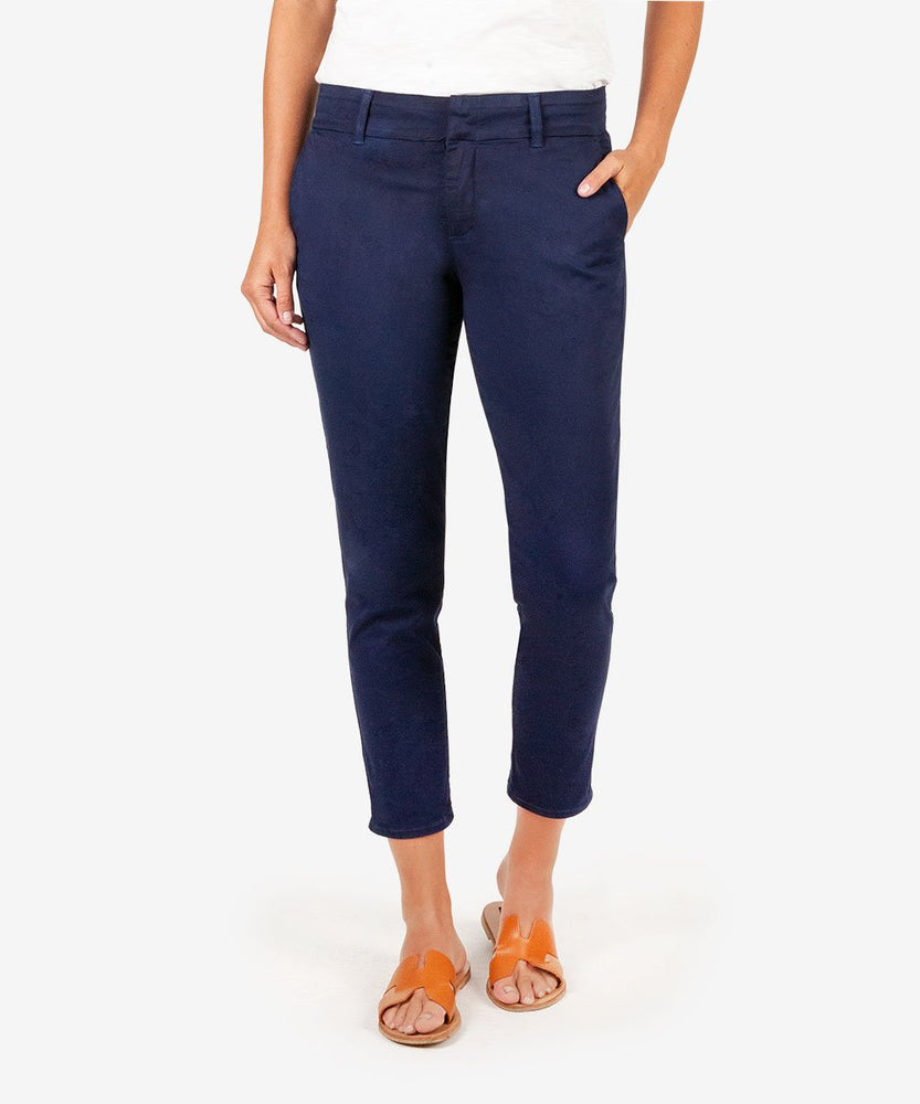 Meghan Ankle Cigarette Trouser (Navy)
