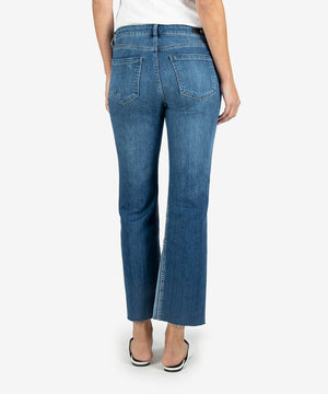 Kelsey High Rise Ankle Flare, Long Inseam (Overtake Wash)-New-Kut from the Kloth
