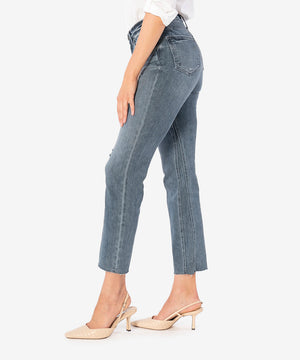Kelsey High Rise Ankle Flare (Mastermind Wash)-New-Kut from the Kloth
