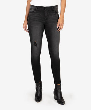 Connie High Rise Slim Fit Ankle Skinny (Black)-New-Kut from the Kloth