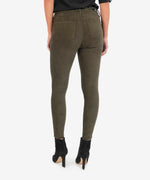 Connie High Rise Slim Fit Ankle Skinny (Olive) Hover Image