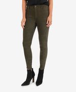 Connie High Rise Slim Fit Ankle Skinny (Olive) Main Image