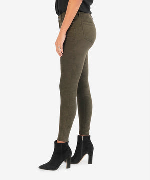 Connie High Rise Slim Fit Ankle Skinny (Olive)-New-Kut from the Kloth