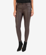 Connie High Rise Slim Fit Ankle Skinny (Brown) Main Image