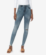 Connie High Rise Slim Fit Ankle Skinny (Incorporate Wash) Main Image