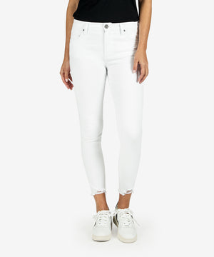 Connie High Rise Slim Fit Ankle Skinny (White)-New-Kut from the Kloth