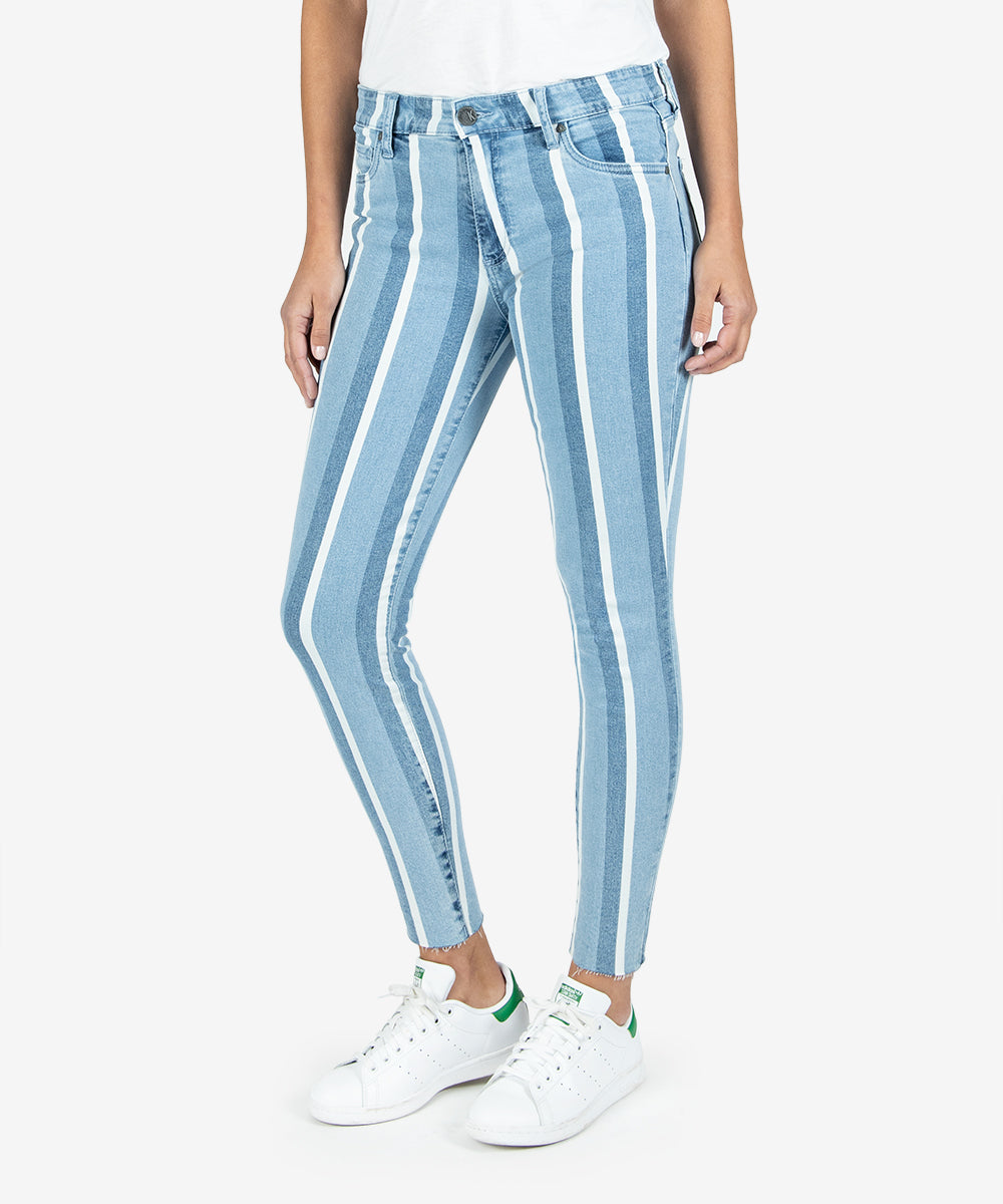 Connie High Rise Ankle Skinny (Assert Wash)