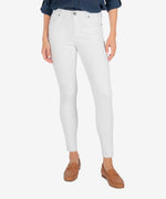 Connie High Rise Slim Fit Ankle Skinny (Optic White) Main Image