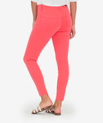 Connie High Rise Slim Fit Ankle Skinny (Coral) Hover Image