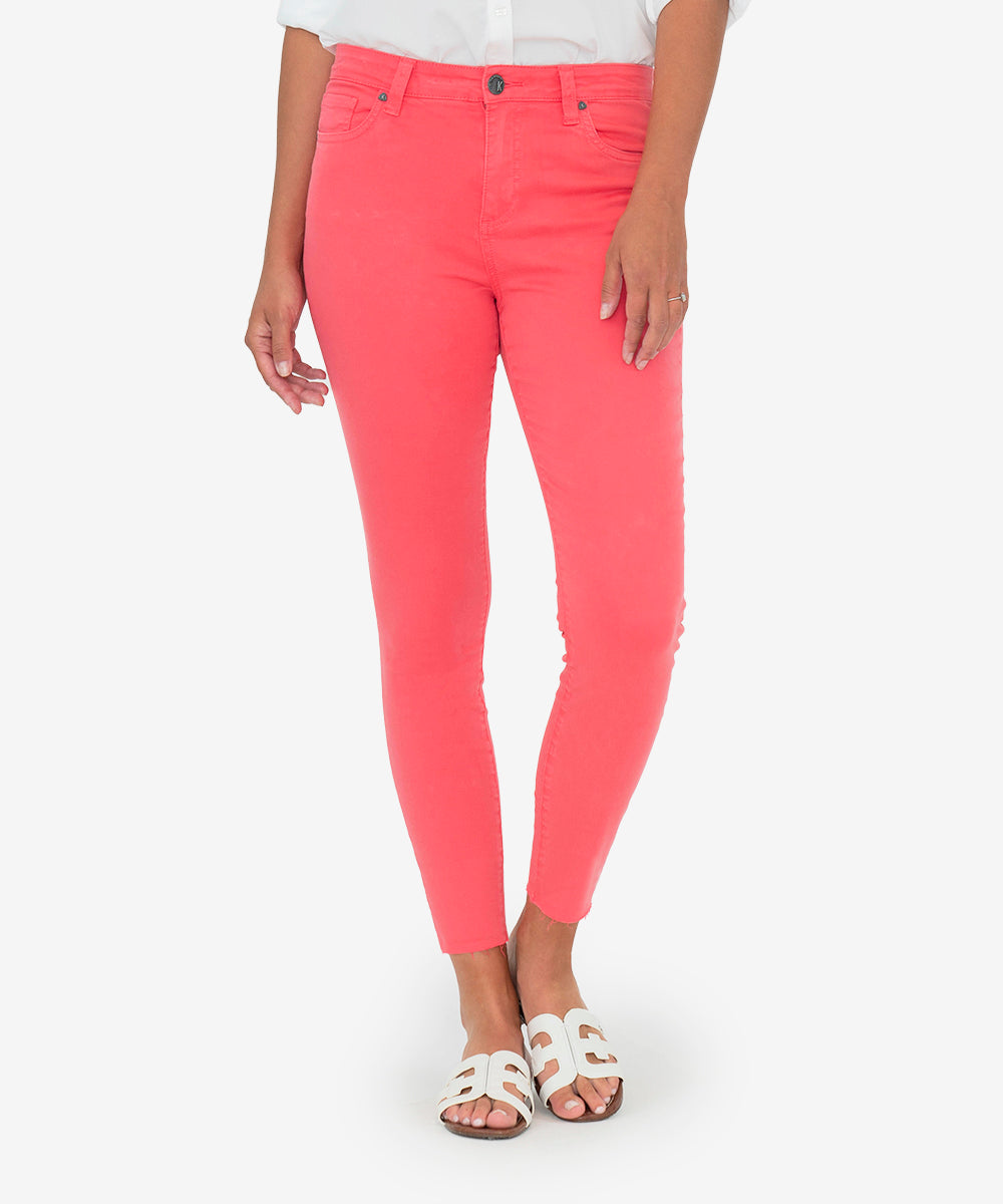 Connie High Rise Slim Fit Ankle Skinny (Coral)