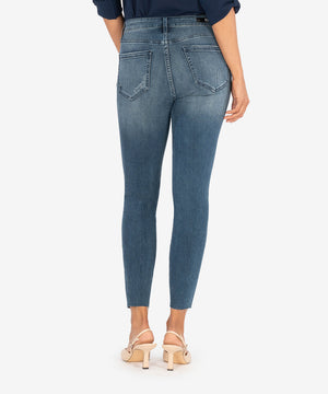 Connie High Rise Ankle Skinny (Erudite Wash)-New-Kut from the Kloth