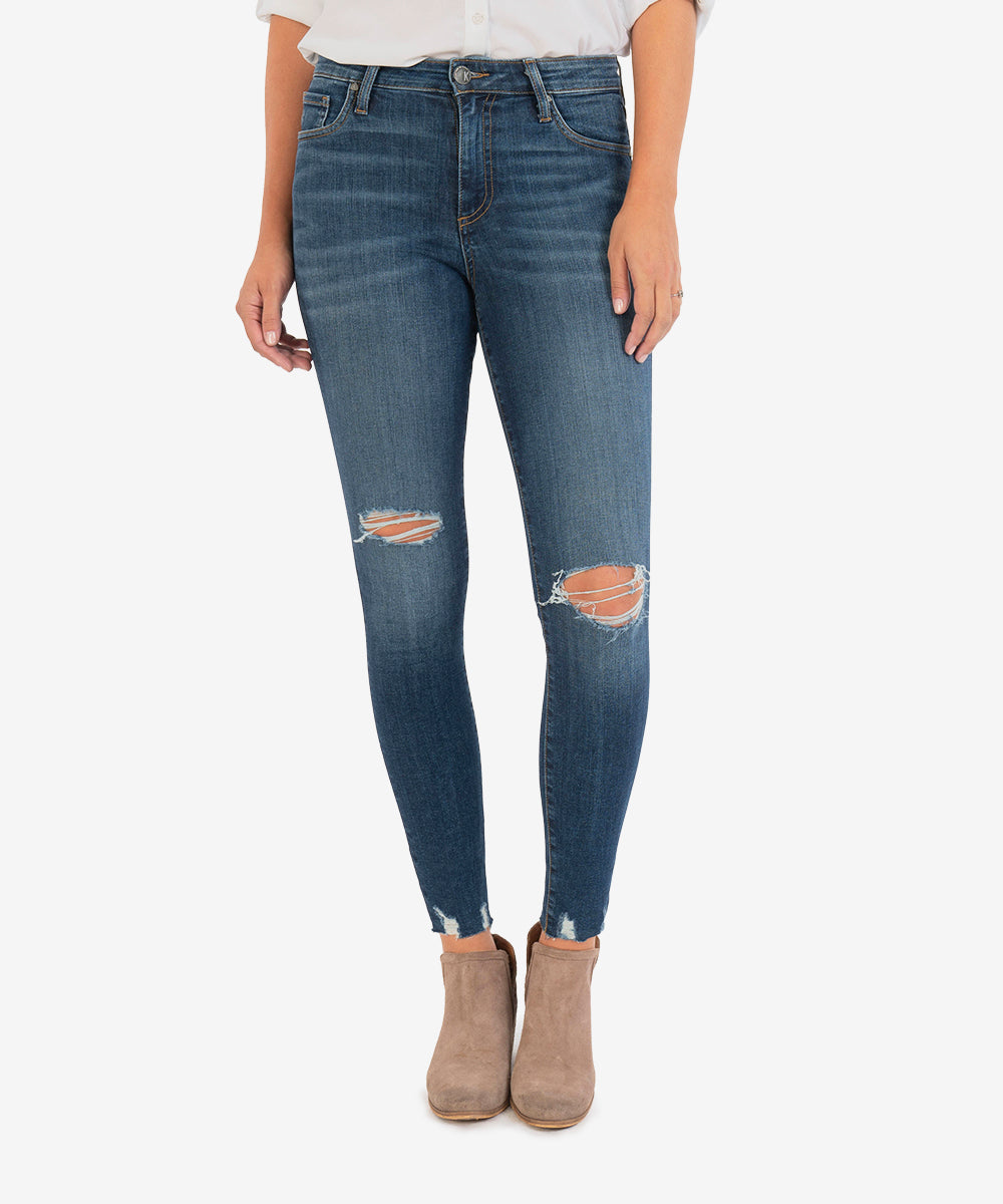 Connie High Rise Slim Fit Ankle Skinny (Divert Wash)