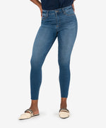 Connie High Rise Fab Ab Slim Fit Ankle Skinny (Done Wash) Main Image