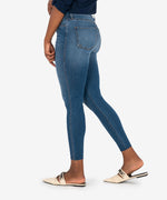Connie High Rise Fab Ab Slim Fit Ankle Skinny (Done Wash) Hover Image
