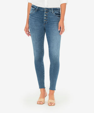 Connie High Rise Slim Fit Ankle Skinny (Gaining Wash)-New-Kut from the Kloth