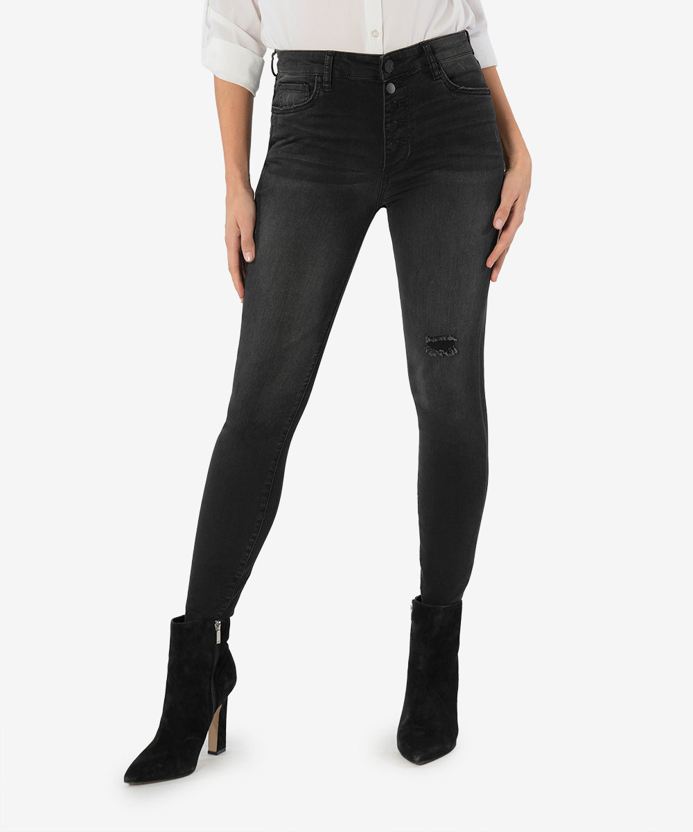 Connie High Rise Slim Fit Ankle Skinny (Limber Wash)