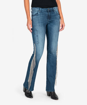 Stella Relaxed Fringe Flare, Exclusive (Allowance Wash)-New-Kut from the Kloth