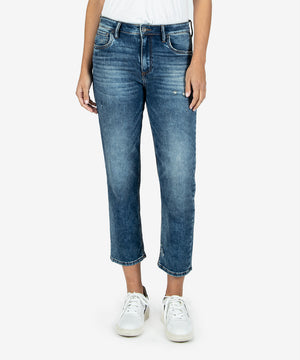 Elizabeth High Rise Crop Straight Leg (Deeply Wash)-Kut From the Kloth