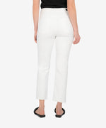 Elizabeth High Rise Crop Straight Leg (Optic White) Hover Image