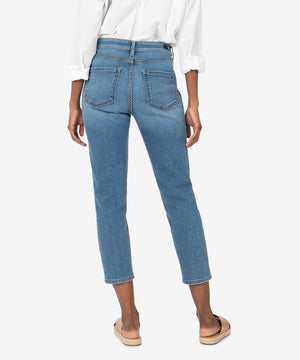 Naomi High Rise Ankle Straight Leg (Moved Wash)