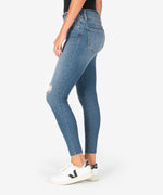 Connie High Rise Slim Fit Ankle Skinny (Headed Wash) Hover Image