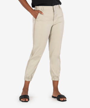 Frida High Rise Track Pant (Khaki)-New-Kut from the Kloth