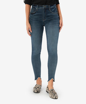 Connie High Rise Fab Ab Slim Fit Ankle Skinny (Crucial Wash)-New-Kut from the Kloth