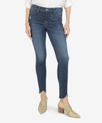 Connie High Rise Fab Ab Slim Fit Ankle Skinny, Petite (Hello Wash) Main Image