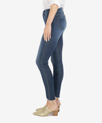 Connie High Rise Fab Ab Slim Fit Ankle Skinny, Petite (Hello Wash) Hover Image