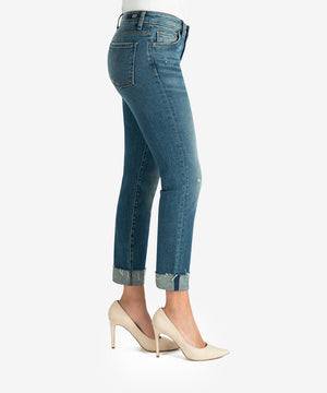 Catherine High Rise Boyfriend, Petite (Deciding Wash)-New-Kut from the Kloth