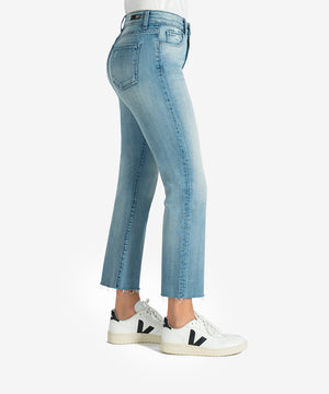 Kelsey High Rise Ankle Flare (Difference Wash)-New-Kut from the Kloth