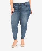 Donna High Rise Ankle Skinny, Plus (Aster Wash) Main Image