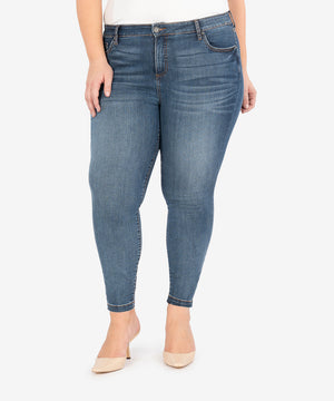 Donna High Rise Ankle Skinny, Plus (Aster Wash)-New-Kut from the Kloth