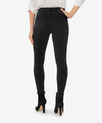 Connie High Rise Fab Ab Slim Fit Ankle Skinny (Black) Hover Image