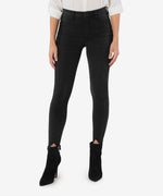 Connie High Rise Fab Ab Slim Fit Ankle Skinny (Black) Main Image