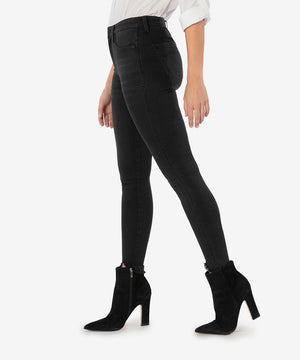 Connie High Rise Fab Ab Slim Fit Ankle Skinny (Black)
