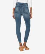 Connie High Rise Fab Ab Slim Fit Ankle Skinny (Eco Friendly - Doughty Wash) Hover Image