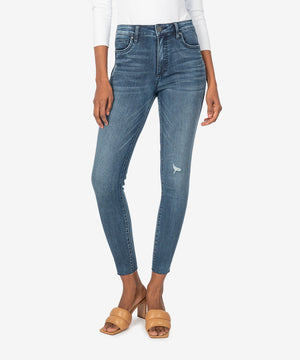 Connie High Rise Fab Ab Slim Fit Ankle Skinny (Eco Friendly - Doughty Wash)-New]-Kut from the Kloth