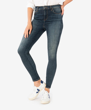 Donna High Rise Fab Ab Ankle Skinny (Bright Wash)-New-Kut from the Kloth